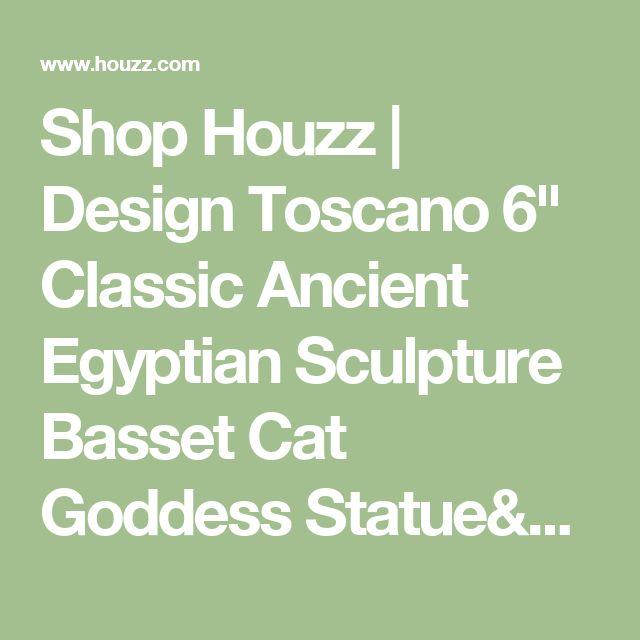 "Shop Houzz | Design Toscano 6"" Classic Ancient Egyptian Sculpture Basset Cat Goddess Statue/Table Clock - Desk And Mantel Clocks"