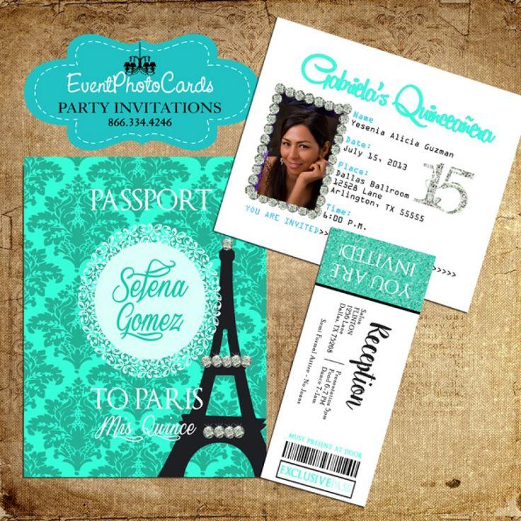 32 best Paris Quinceanera Party images on Pinterest | Credit cards ...