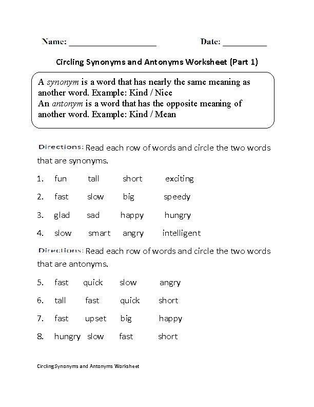 Antonyms Pictures Worksheet Great English Tools Pinterest - synonym for resume