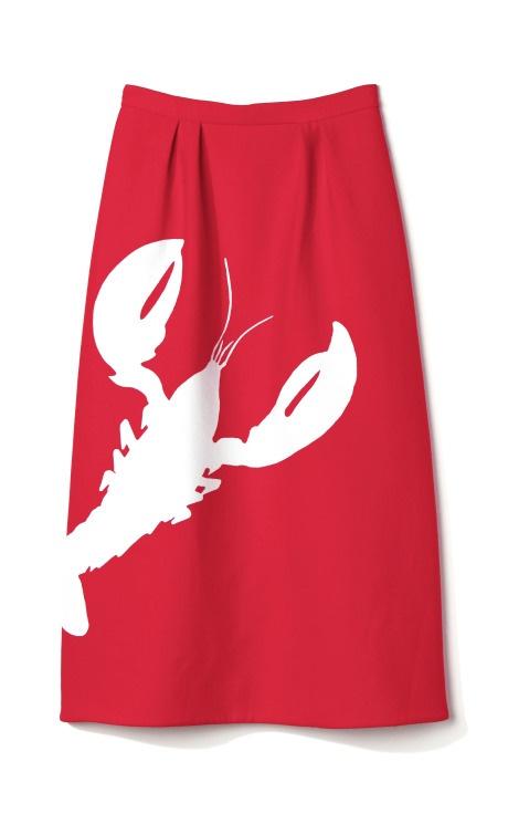Tibi Lobster Skirt