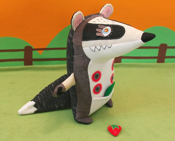 Kenny the cutest badger ever handmade & with by StitchedCreatures, €60.00
