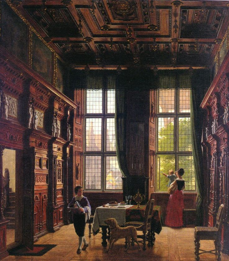 Heinrich Hansen - Interior, Lübeck (1880)