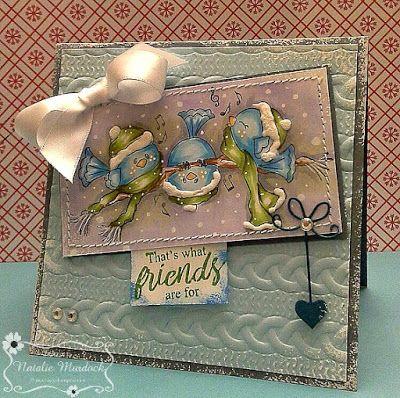 """ONECRAZYSTAMPER.COM: Friends by Natalie using High Hopes Stamps """"Singing Crazy Birds"""" (TT070)"""
