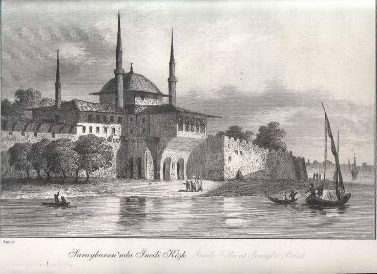 Gravürlerdeki Eski İstanbul -  Sarayburnu İncili Köşk, Sarayburnu - İstanbul - Türkiye