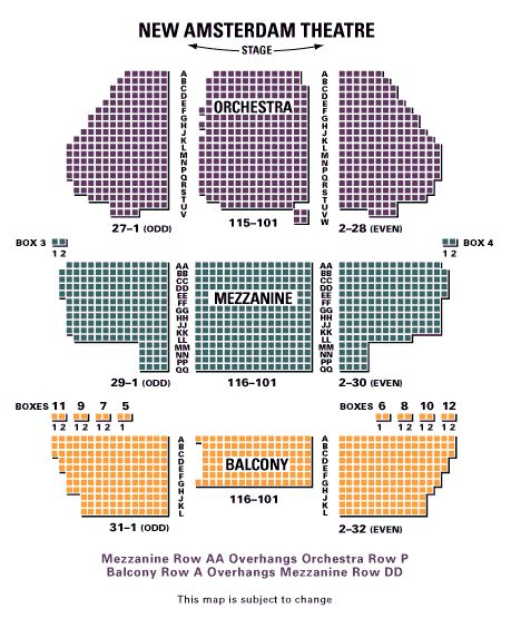 Aladdin tickets seating chart, Broadway, New York, Musical tickets: I sat in the last row of the Mezzanine section