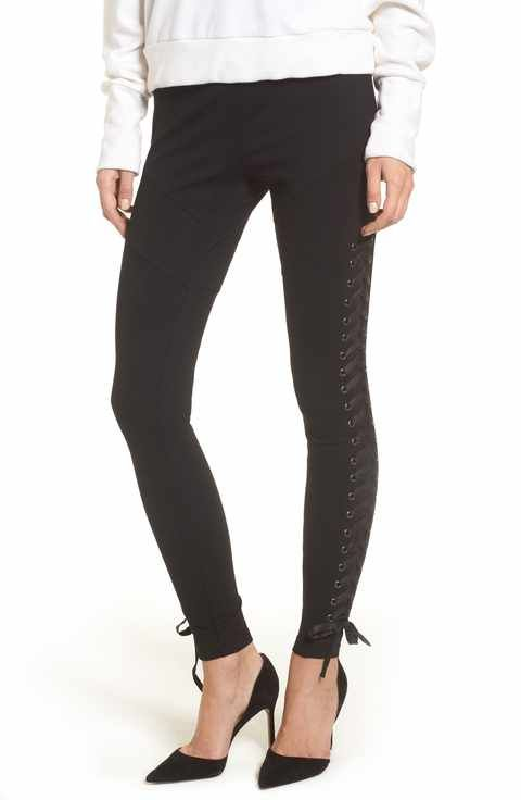 True Religion Brand Jeans Lace-Up Leggings