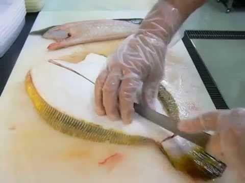 Мастер класс по разделке камбалы. Fish processing. Flounder.