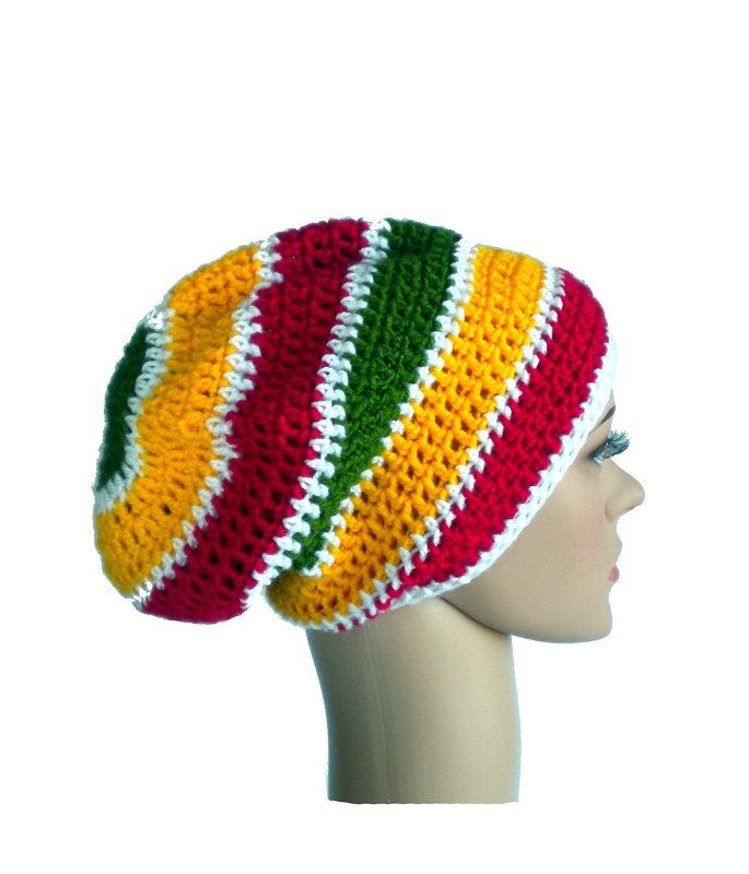 Dreadlock beanie, rastafari hat, Bob Marley rasta hat, Jamaica reggae beanie by MultiKultiCrafts on Etsy