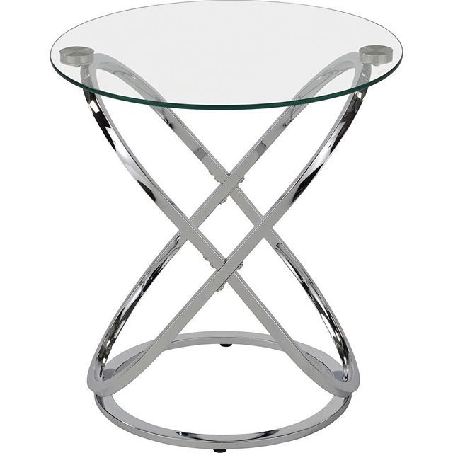 Can chrome look warm? Pair the Carlyn accent table (new!)  from !nspire with a deep white sheep hide and see just how luxurious and warm it can  feel...    http://worldwidehomefurnishingsinc.com/carlyn-accent-table-in-chrome.html