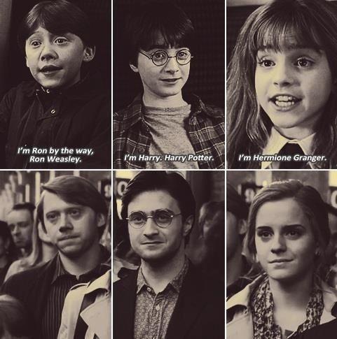 Harry james potter ronald billius weasley and hermione - Harry potter hermione granger ron weasley ...