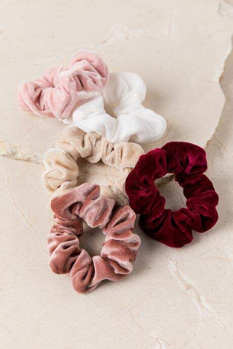 francesca s Lila Velvet Scrunchie Set - Multi  a85245265fa