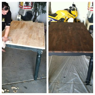 A how-to on refurbishing an old kitchen table
