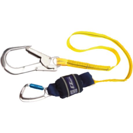 Single leg, 2 m Length with Aluminium Twist Lock Carabiner, 20 mm Gate Opening Body Connector and<br>  Aluminium Scaffold Hook, 60 mm Gate Opening Anchor Connector