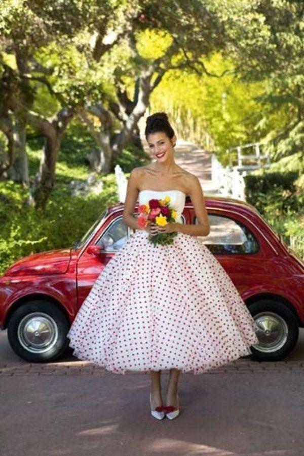 Mariage style rétro , robe de mariée rockabilly