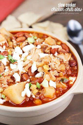 Crock Pot Pinto Bean Chicken Chili Stew Recipe on Yummly