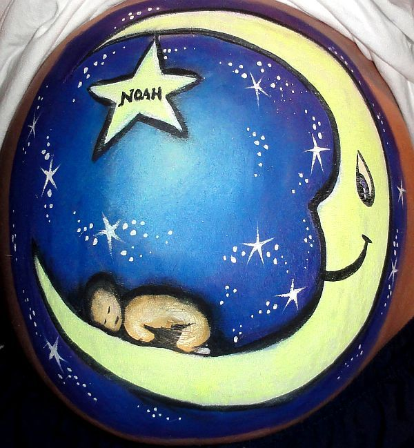 Love this belly painting!