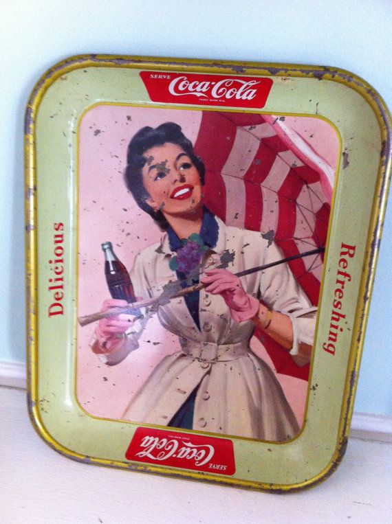 Coca cola collectable serving tray vintage lady by TheHoppingDiner