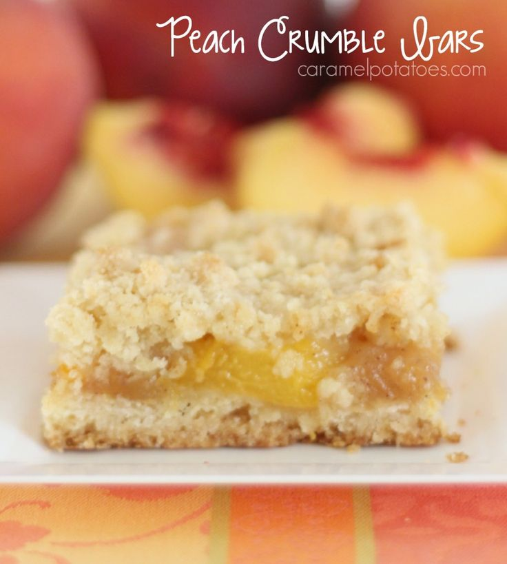 Peach Crumble Bars - Easy to Make, Easy to Serve, SO Good to eat!!