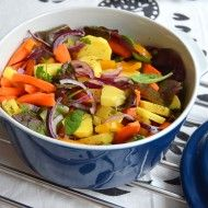 Fotografie receptu: Pečená zelenina z trouby s tymiánem