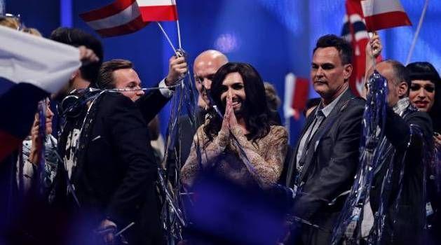 Favorit. Conchita Wurst havde salens ubetingede sympati, beviste styrken af klapsalverne, da det blev klart, at Østrig går videre til lørdagens finale i Eurovision Song Contest 2014. - Foto: JENS DRESLING #joinus