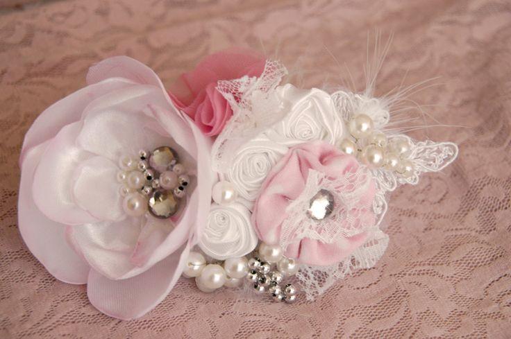 Wedding hair flower/ Wedding hair accessory/ Wedding by MkeFlower