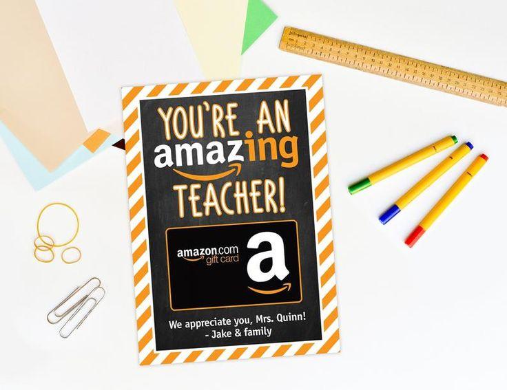 Amazon teacher appreciation gift card holder boss etsy