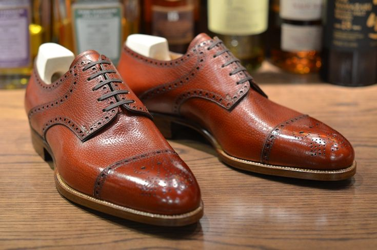 sapato social masculino marrom claro derby brogue