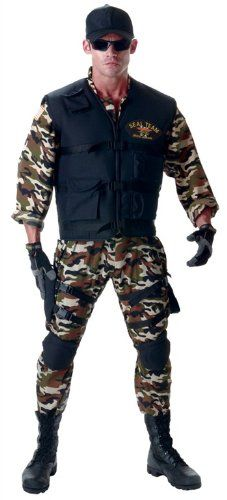 Underwraps Men's Seal Team Adult Deluxe, Camo/Black, One Size. 100% Polyester. It is Imported. Hand Wash only. Under wraps. High quality costumes presented by under wraps costumes.