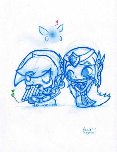 Link & Zelda by Podgy Panda