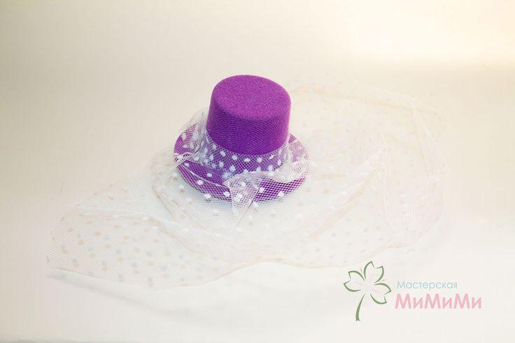 Детская шляпка с вуалью