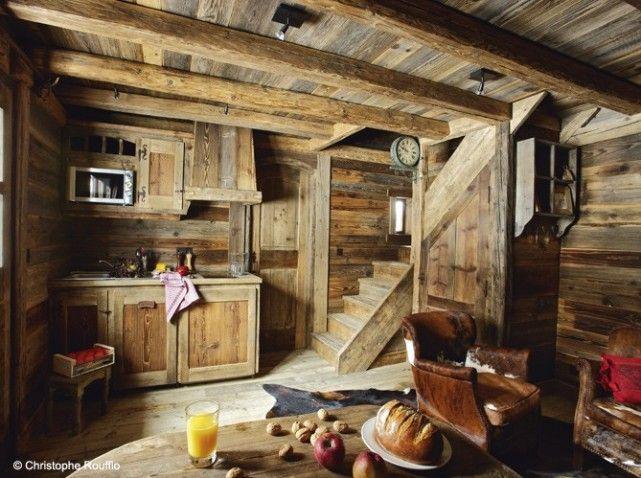 Une cuisine esprit chalet comme la campagne deco cuisine chalet d co chalet lodge - Deco stijl chalet ...