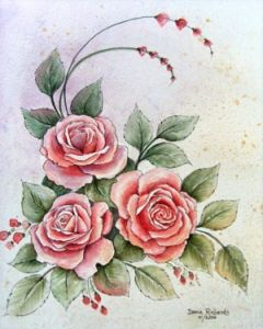 Art Apprentice Online - Downloadable Painting Pattern - Bouquet of Beauty - Acrylic Watercolor Painting Technique by Donna Richards, $9.95 (http://store.artapprenticeonline.com/a-bouquet-of-beauty-watercolor-painting-technique-acrylic-painting-pattern-by-donna-richards/)