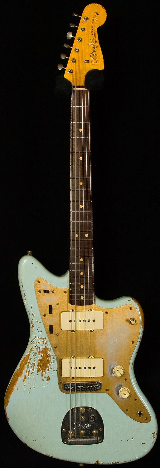 Fender Custom Shop NAMM 2012 Heavy Relic Jazzmaster - Sonic Blue - Faux Vintage Electric Guitar