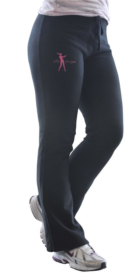 Fashion meets comfort with the Girly Gun Gear cotton fleece pant. This garment is made straight to flatter and is reinforced by a contoured waistband with elastic and drawstring.      16.2-oz, 100% French terry cotton , 2-inch waistband with elastic and drawstring, boot cut leg with double-needle...