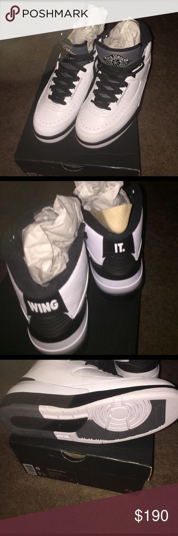 Air Jordan retro 2 Nike Brand new never worn black and white retros #2 Jordan Shoes Athletic Shoes