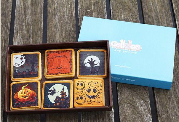 Pack especial papel de azúcar con decoración de Halloween: http://www.galletea.com/galletas-decoradas/