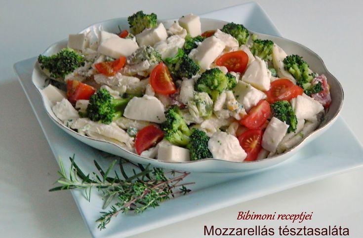 Mozzarellás tésztasaláta