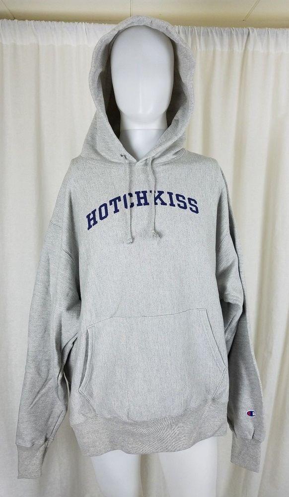Champion Reverse Weave Hotchkiss Hoodie Sweatshirt Sweater Jacket Mens XL Fleece #Champion #Hoodie