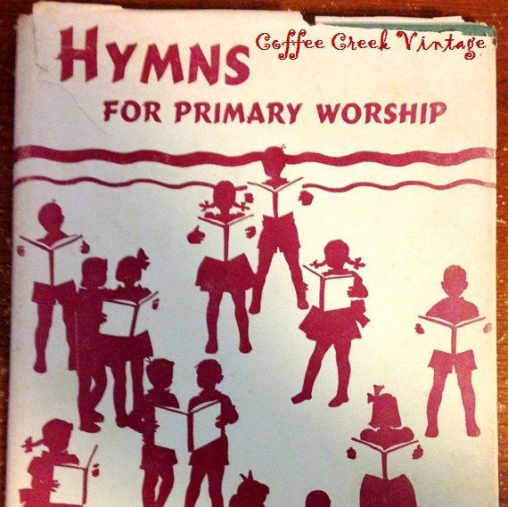 Vintage Children's Hymn Book Hymns for by CoffeeCreekVintage