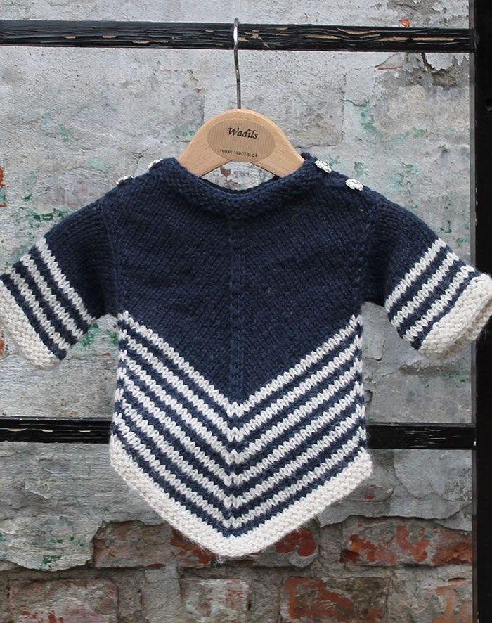 børne uld sweater strikkekit