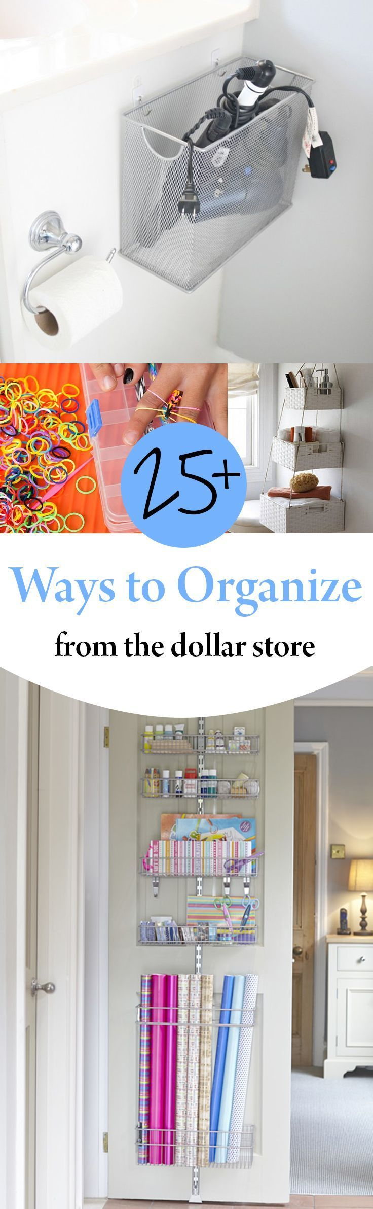 Organization, Home Organization, Home Organization Hacks, Organized Home, #DIY Home, Popular Pin, Home #Decor, Dollar Store Organization