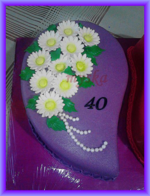fialová k 40. narozeninám