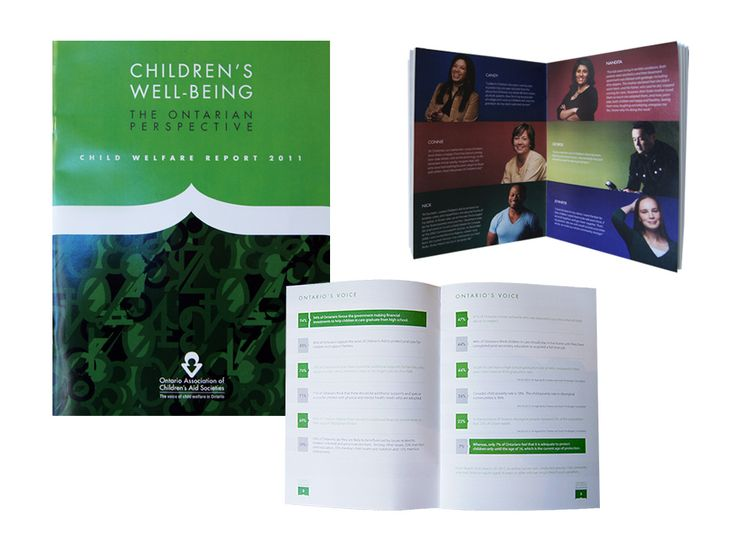 Ontario Association of Children's Aid Societies annual report design by Macroblu.