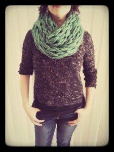 On a testé: tricoter un #foulard en 30 minutes