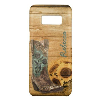 #bridal - #Weathered Western Country sunflower cowboy boot Case-Mate Samsung Galaxy S8 Case