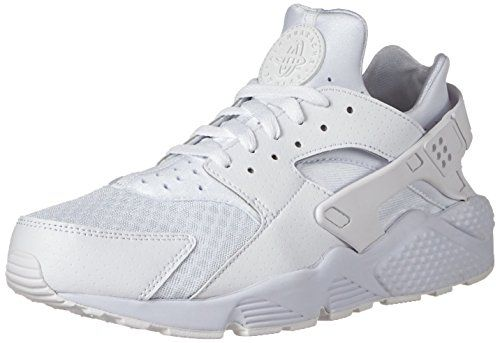 Nike Air Huarache - Scarpe da Ginnastica Basse Uomo, Bianco (White/white/pure Platinum), 41 EU