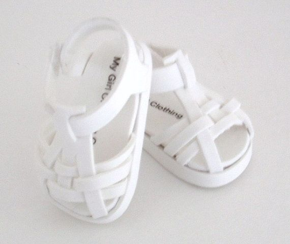 White Woven Sandal by MyGirlClothingCo on Etsy, $9.00