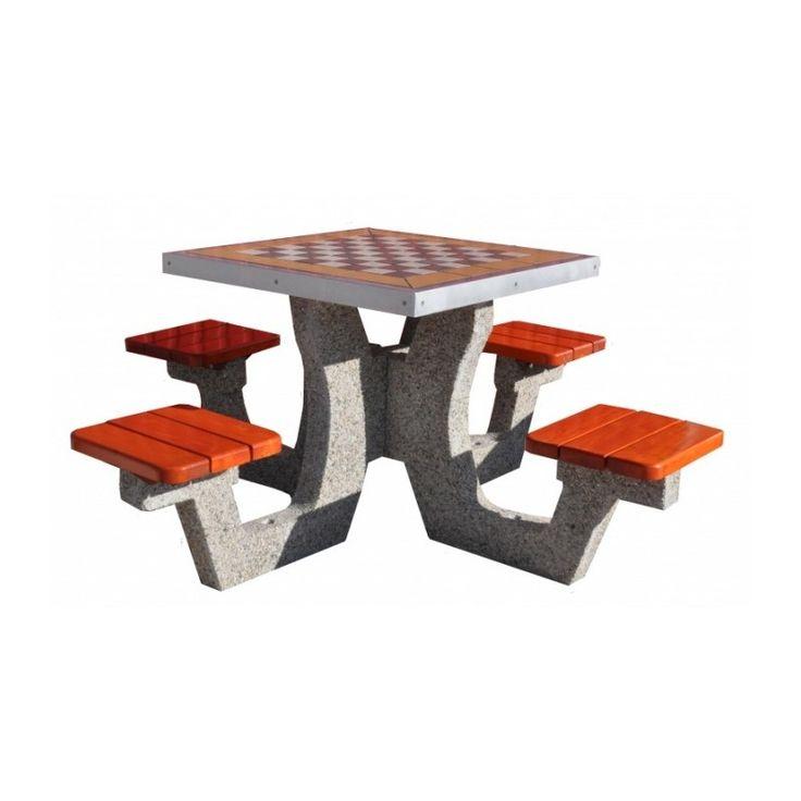 Stół do gry w szachy kosze betonowe, kosze na śmieci, kosze na smieci, mała architektura miejska, http://cityarch.eu/