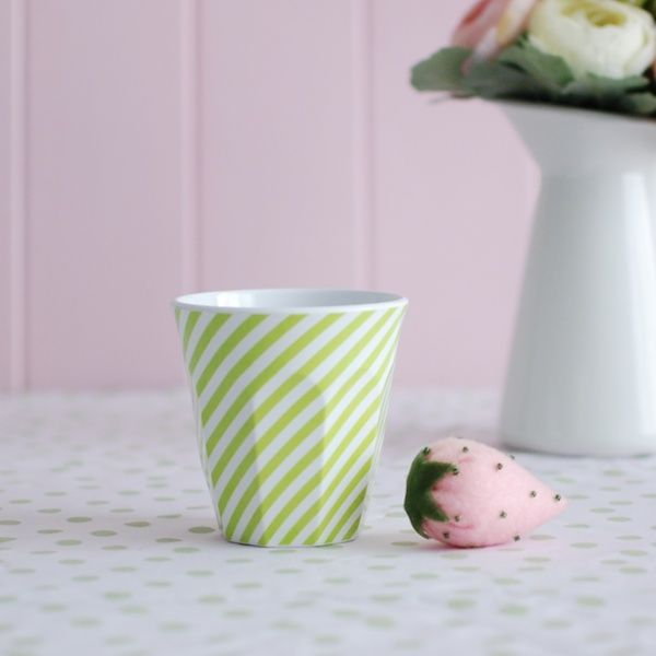 Cup Green + White Stripe. For more information Please take a moment to visit our website : https://www.redplumlinen.com.au/