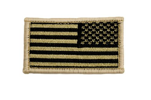 Reverse Tan And Black American Flag Patch